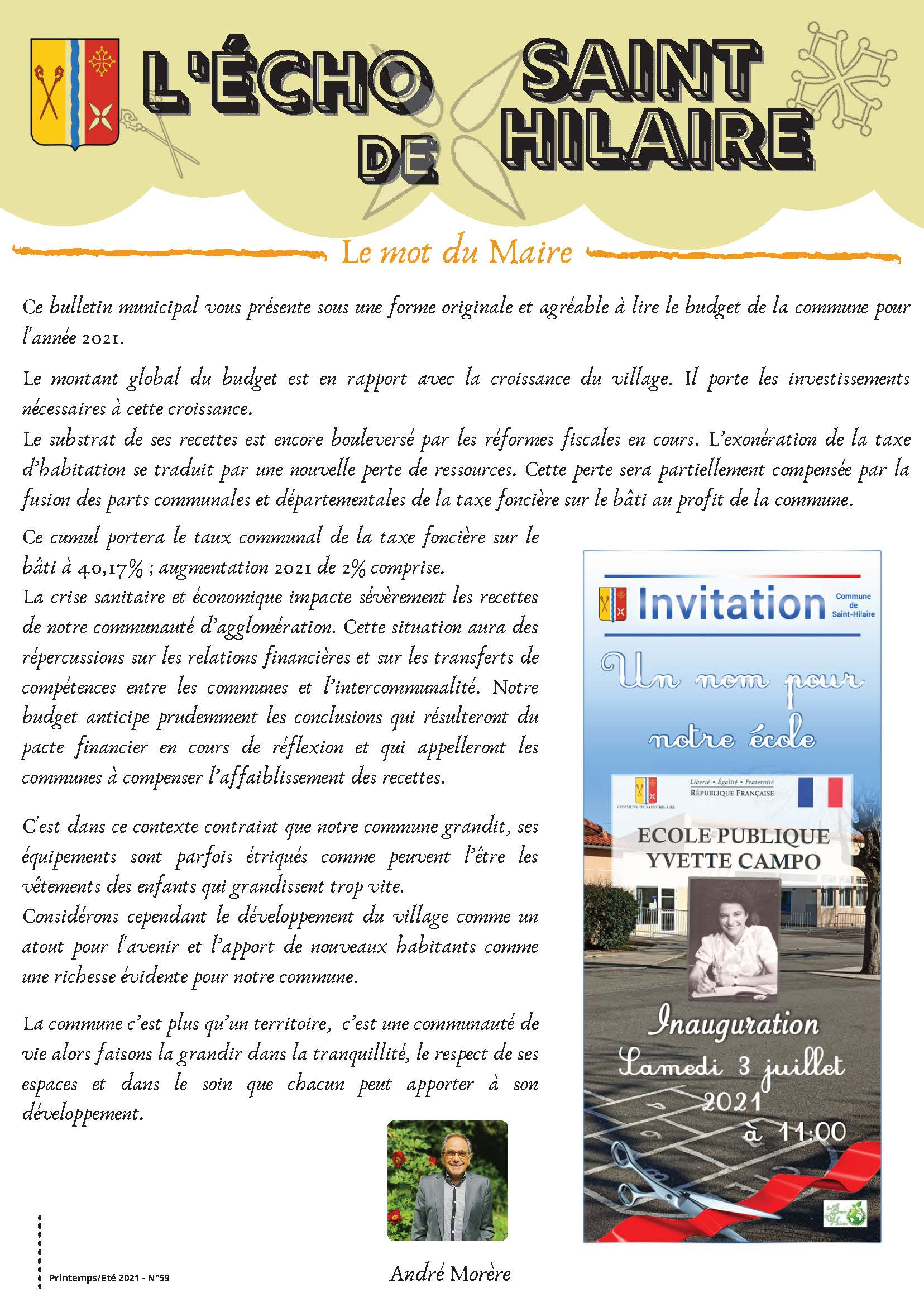 Echo_StHilaire_Juin_21_Page_1